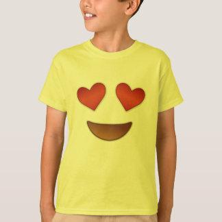 Emoji caluroso de los ojos playera