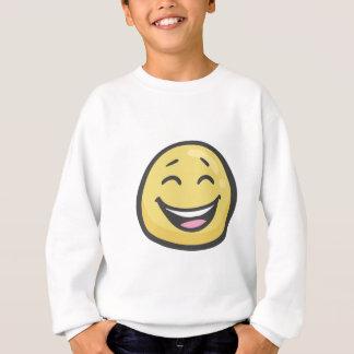 Emoji: Cara sonriente con la boca abierta y ojos Sudadera