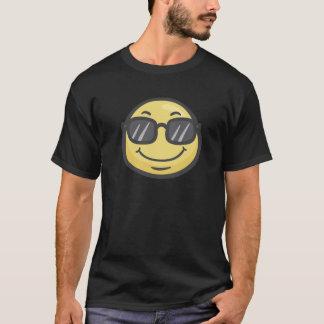 Emoji: Cara sonriente con las gafas de sol Playera