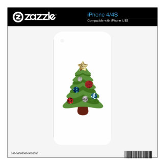 emoji christmas tree decal for the iPhone 4