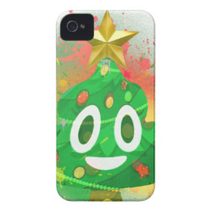 emoji christmas tree spray paint iphone 4 case