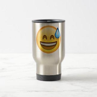 Emoji - Cold Sweat Travel Mug