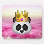 Emoji Crowned Panda Mouse Pad