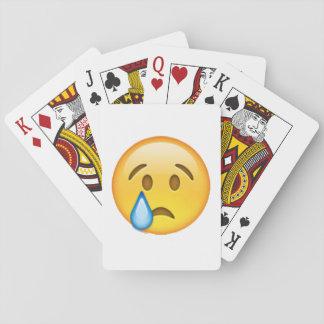 Emoji - Crying Playing Cards
