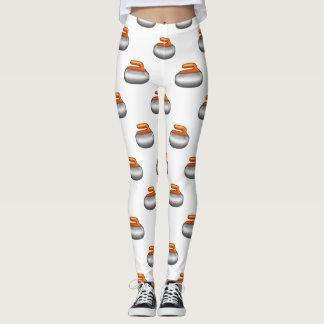Emoji Curling Stone leggings