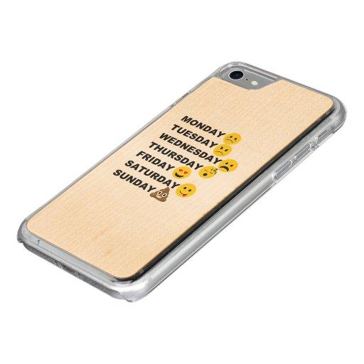 Emoji Days Carved iPhone 7 Case : Zazzle