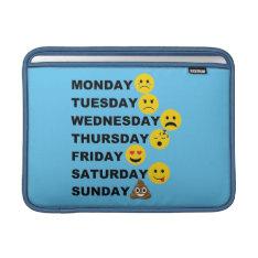 Emoji Days MacBook Air Sleeve at Zazzle