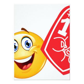 """emoji de la fan de deportes invitación 5.5"""" x 7.5"""""""