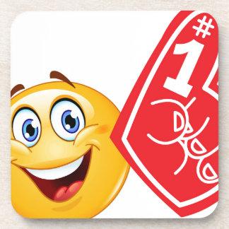 emoji de la fan de deportes posavasos