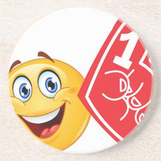 emoji de la fan de deportes posavasos de arenisca