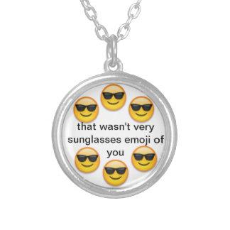 emoji de las gafas de sol pendiente personalizado