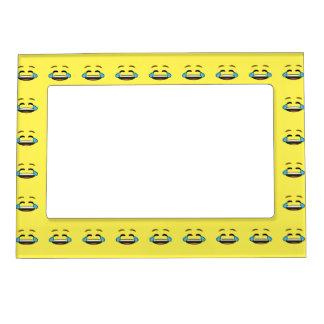 Emoji de risa marcos magneticos