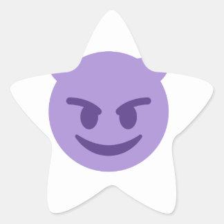 emoji del diablo pegatina en forma de estrella
