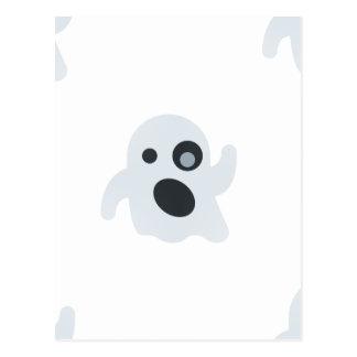 emoji del fantasma tarjeta postal