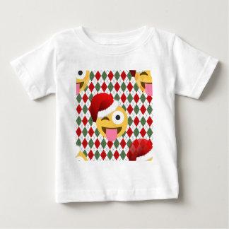 emoji del guiño de Papá Noel Playera De Bebé