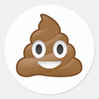 Emoji del impulso pegatina redonda