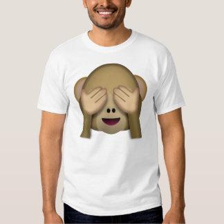 Emoji del mono del Ver-Ninguno-Mal Polera