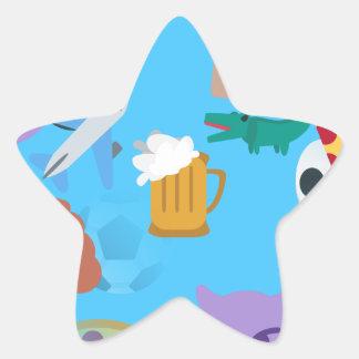 emoji del muchacho pegatina en forma de estrella