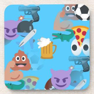 emoji del muchacho posavasos de bebida
