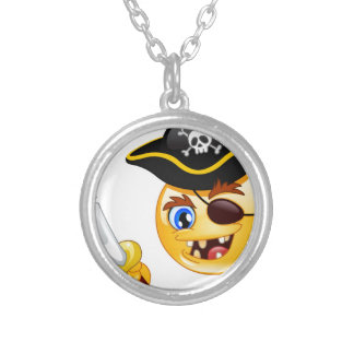 emoji del pirata colgante redondo