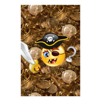 emoji del pirata del tesoro papeleria