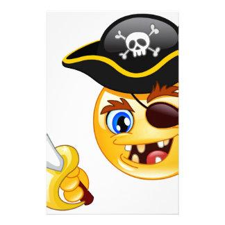 emoji del pirata papelería personalizada