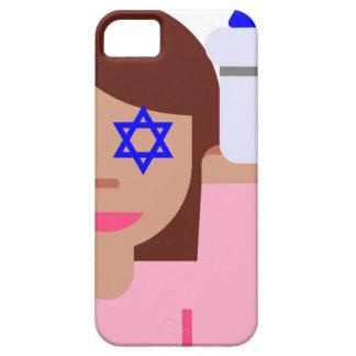 emoji del tirón del pelo del chanukkah funda para iPhone SE/5/5s