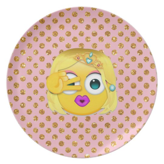 emoji dinner plate