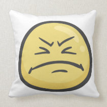 Emoji: Disappointed Face Throw Pillow