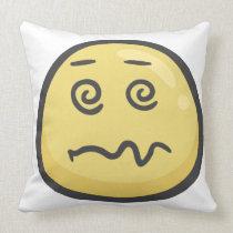Emoji: Dizzy Face Throw Pillow