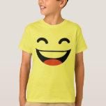 Emoji estupendo de la sonrisa poleras