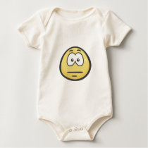 Emoji: Expressionless Face Baby Bodysuit