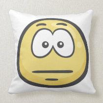 Emoji: Expressionless Face Throw Pillow