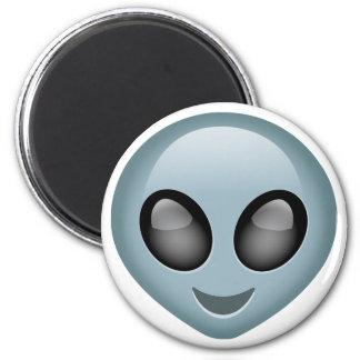 Emoji extranjero extraterrestre imán redondo 5 cm