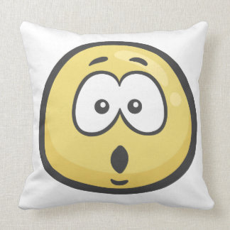 Emoji: Face With Open Mouth Throw Pillow