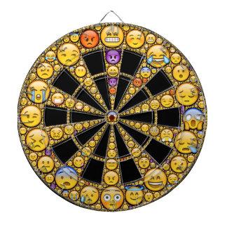 Emoji feeling icon dartboard