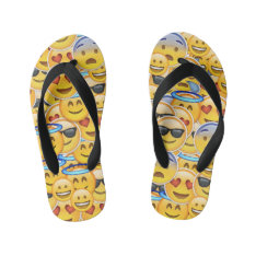 Emoji Flip Flops Kids at Zazzle