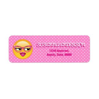 Emoji Flirty Girl ID227 Label