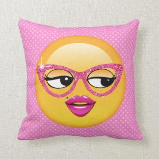 Emoji Flirty Girl ID227 Throw Pillow