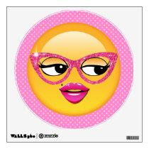 Emoji Flirty Girl ID227 Wall Sticker