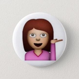 Emoji Girl Button