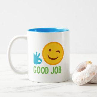 Emoji Good Job Two-Tone Coffee Mug