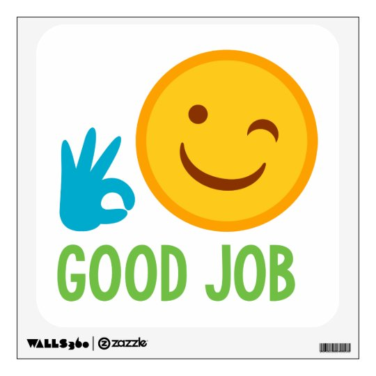 emoji good job wall decal zazzle com
