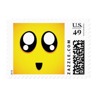 Emoji grande lindo estupendo de los ojos estampilla