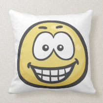 Emoji: Grinning Face With Smiling Eyes Throw Pillow