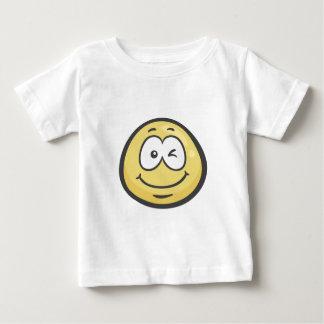 Emoji: Guiño de la cara Playera De Bebé