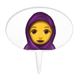 emoji hajib cake topper
