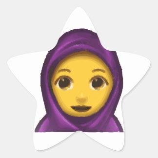 emoji hajib star sticker