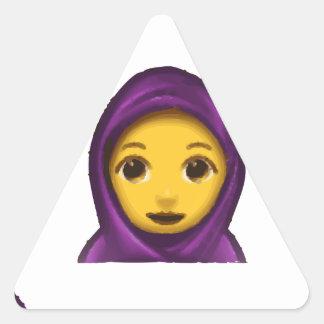 emoji hajib triangle sticker