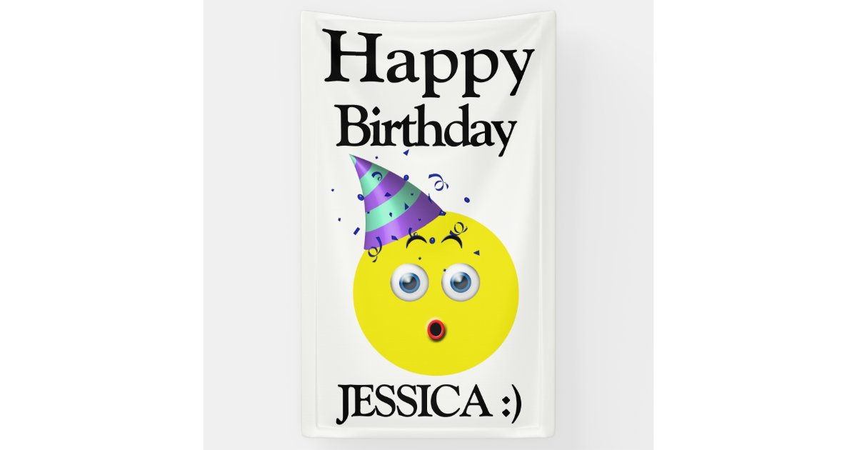 Emoji Happy Birthday Surprise Banner